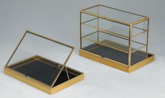 portable table display cases to display store jewelry. Black Bedroom Furniture Sets. Home Design Ideas
