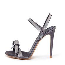 Sandálias das mulheres 2016 Verão Cetim Strass Aberto Toe Slip On Sandálias Sexy Stiletto sapatos de Salto alto Vestido de Festa Sapatos Personalizado Mais tamanho(China (Mainland))