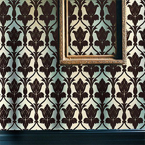 Zoffany Navarre Wallpaper As Used in BBC Sherlock Holmes (Different Color) Duck Egg