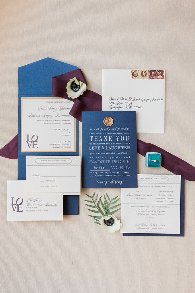 navy blue and kelly green wedding invitations%0A jewel tone manor wedding   Alicia Lacey Photography   Glamour  u     Grace