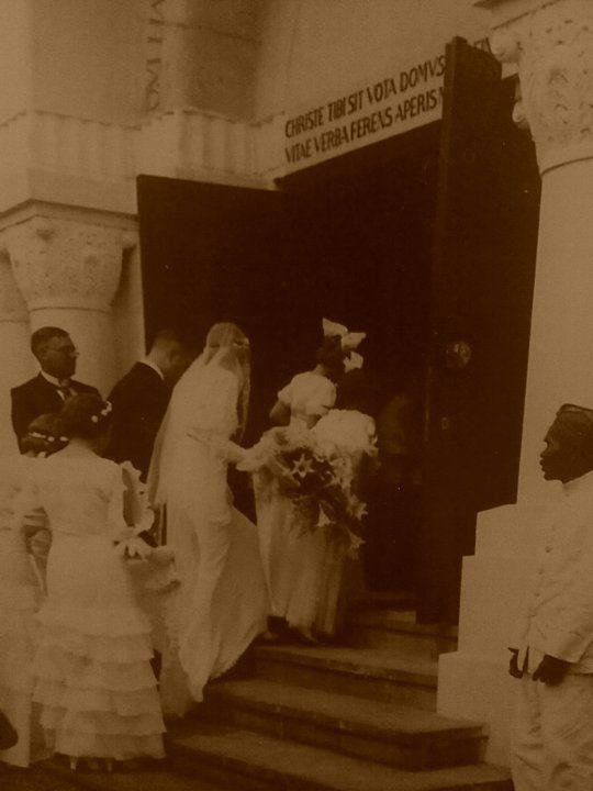 My grandparents entering Bethel Church Bandoeng on their wedding day in 1935 ~MaryOuma~