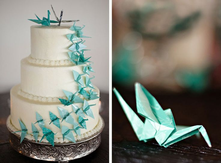 Vrolijke origami decoratie op je bruiloft | ThePerfectWedding.nl