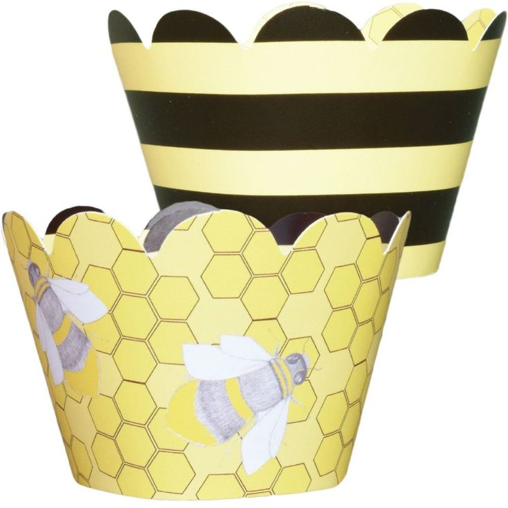 Amazon MINI Bumble Bee Theme Cupcake Wrappers Baby Shower And Birthday Party