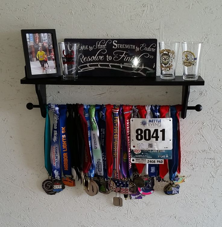 "30"" Sports Trophy and Medal Shelf by ShelfnWoodworks on Etsy"