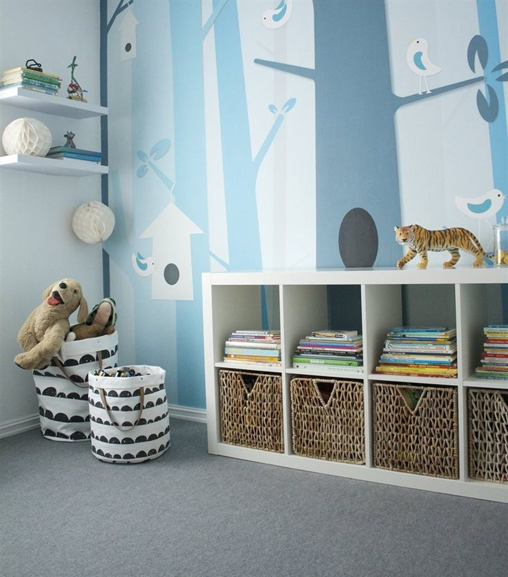 Welcome to the jungle | Blue boy's bedroom in Norway