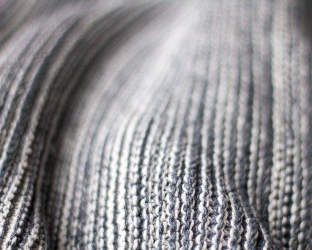 Chunky denim throw granite | By Mölle