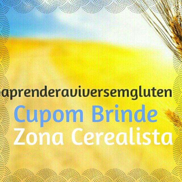 E a novidade, é  um Cupom Brinde, em  parceria com a Zona Cerealista, para ser usado nas compras que feitas no site.  Usando o Cupom Brinde : APRENDERAVIVERSEMGLUTEN , você ganha um pacote de farinha de arroz integral.