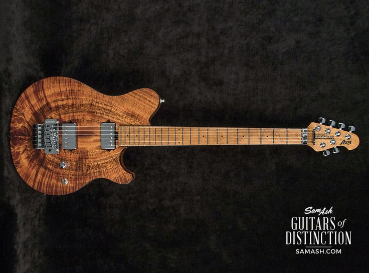 Ernie Ball Music Man Limited Edition Ball Family Reserve Axis Natural Koa Electric Guitar | SamAsh