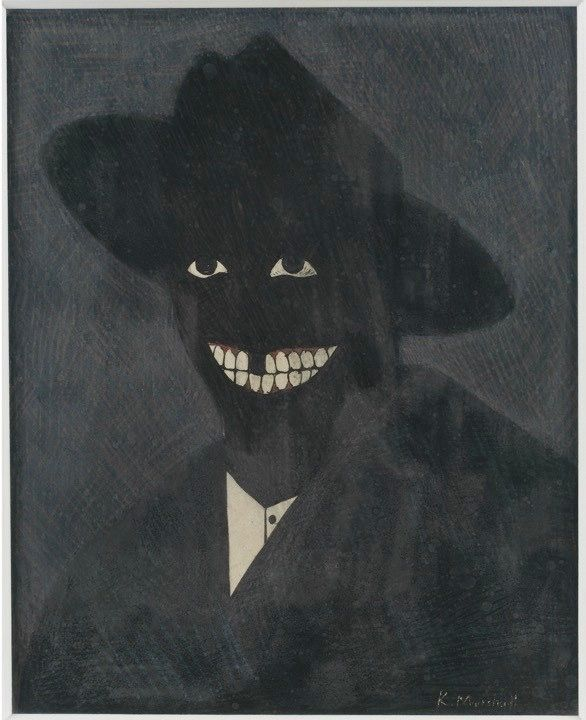 Kerry James Marshall, A Portrait of the Artist as a Shadow of His Former Self, 1980