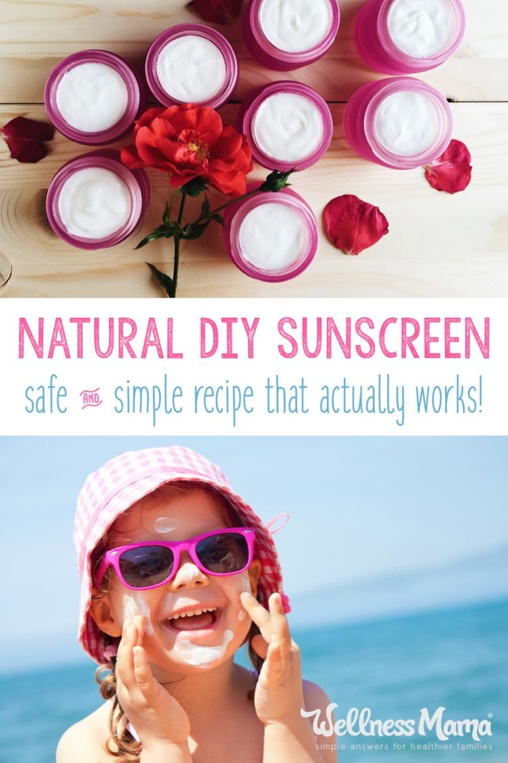 Get sun protection without the toxins with homemade sunscreen. Made with coconut oil, shea butter, non-nano zinc oxide and other natural ingredients.
