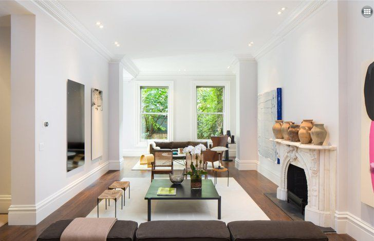 Pin for Later: Finally! Sarah Jessica Parker Sells Her $20M Village Townhouse  On the opposite side, tall windows allow for plenty of natural light and a hint of natural greenery.