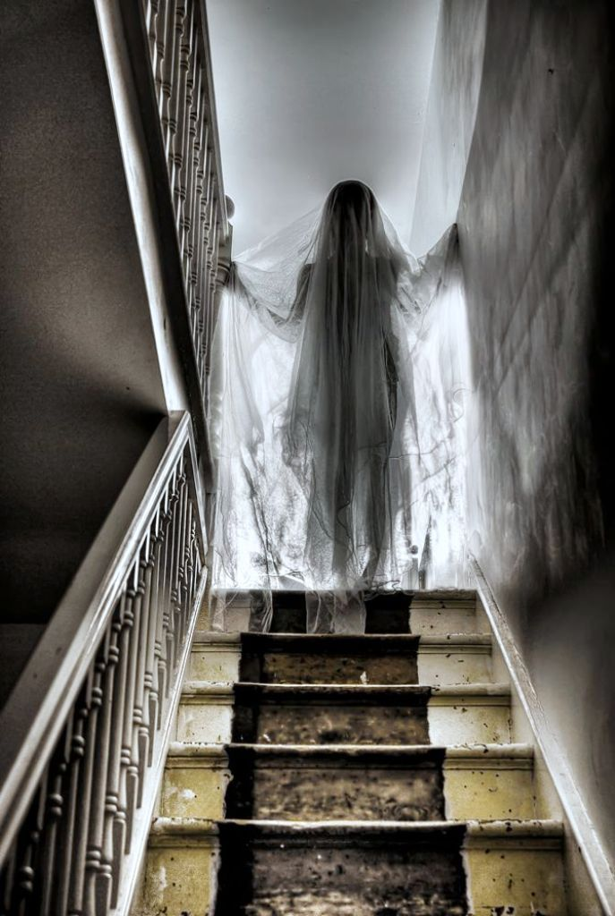 Ghost Girl On Stairs Halloween Decorations