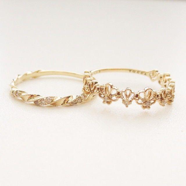 K10YG diamond rings #tocca #japan