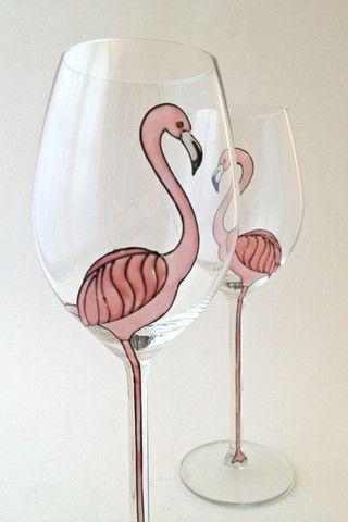 Toasted Glass - Flamingo Long Stem Wine Glasses