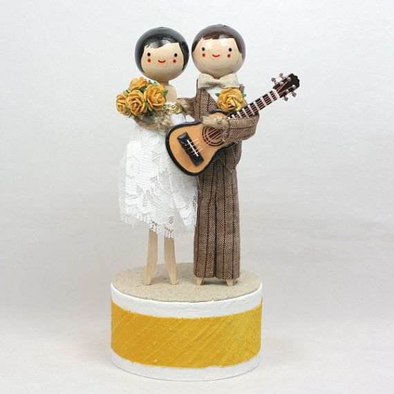 music wedding cake toppers custom wedding cake topper with 1x instrument 17670