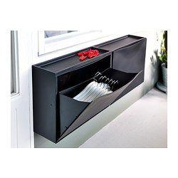 TRONES Armoire à chaussures/rangement, noir - 51x39 cm - IKEA