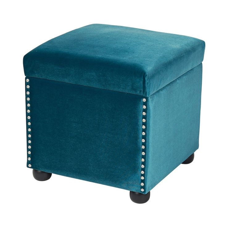 Jennifer Taylor Hailey Storage Cube (colonial blue), Size Small (Metal)