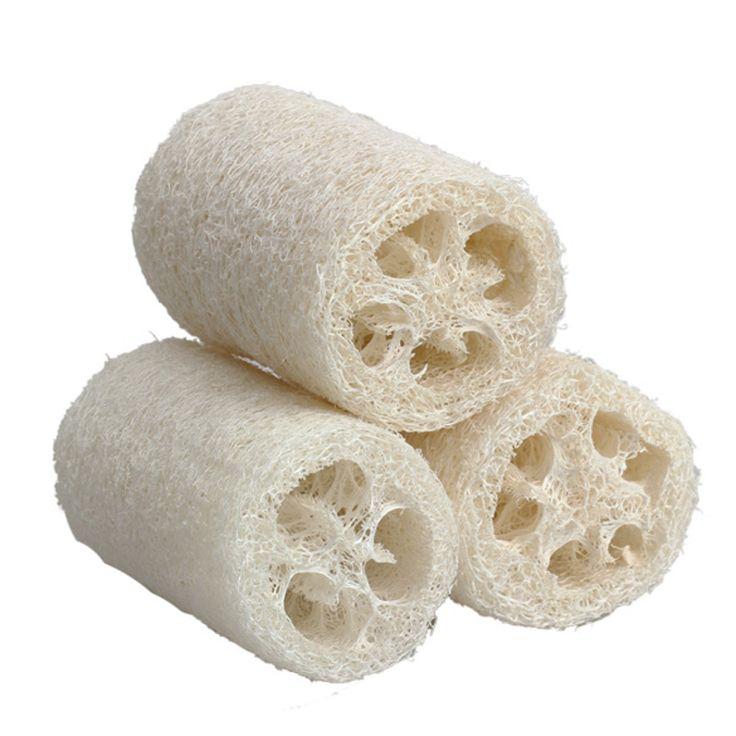 3pcs Natural Loofah Luffa Loofa Bath Body Shower Sponge Scrubber Skin Care Bathing Wash loofah sponge Small Size free shipping
