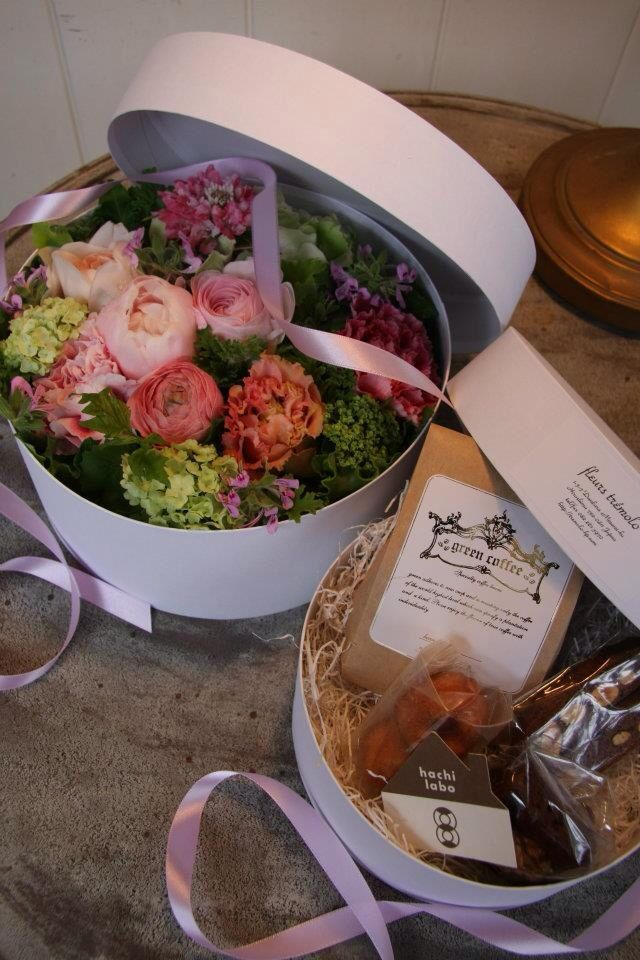 Box flower and sweets