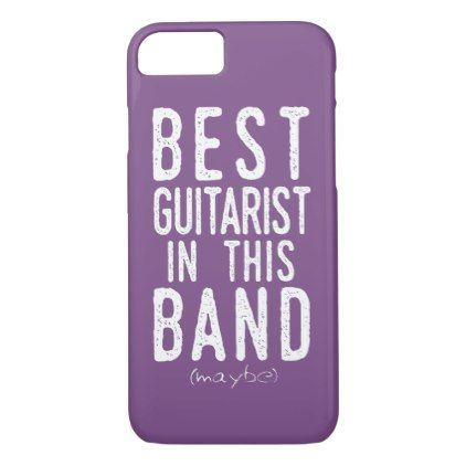 Best Guitarist (maybe) (blk) iPhone 8/7 Case - metallic style stylish great personalize