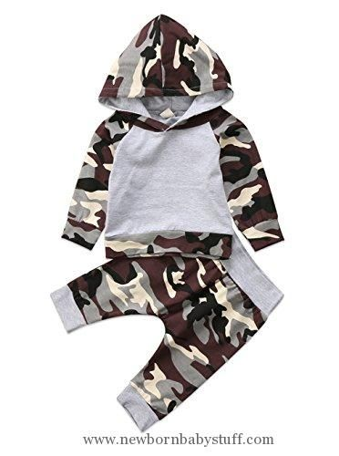 Baby Boy Clothes Aliven Toddler Infant Baby Boys Deer Long Sleeve Hoodie Tops Sweatsuit Pants Outfit Set
