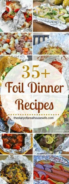 Awesome foil dinner recipe ideas. You will want to keep these in your back pocket this summer. Grilling, camping, or just sick of dishes!