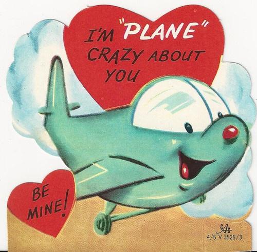 370 Anthropomorphic Airplane Is Crazy Vintage Unused Die Cut Valentine Card | eBay