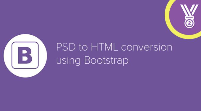 convert PSD to Responsive HTML5 CSS3 Bootstrap3 by imadou