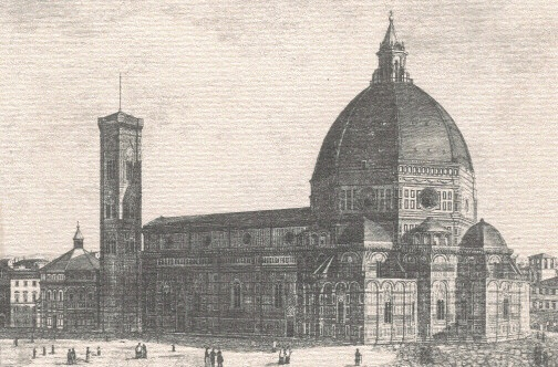Old view of the Duomo (Basilica di Santa Maria del Fiore)