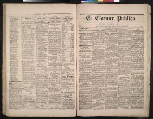 El Clamor Publico, vol. II, no. 9, Agosto 16 de 1856 :: El Clamor Publico Collection, 1855-1859
