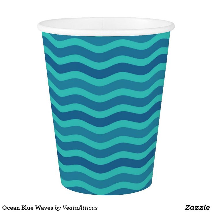 Ocean Blue Waves Paper Cup