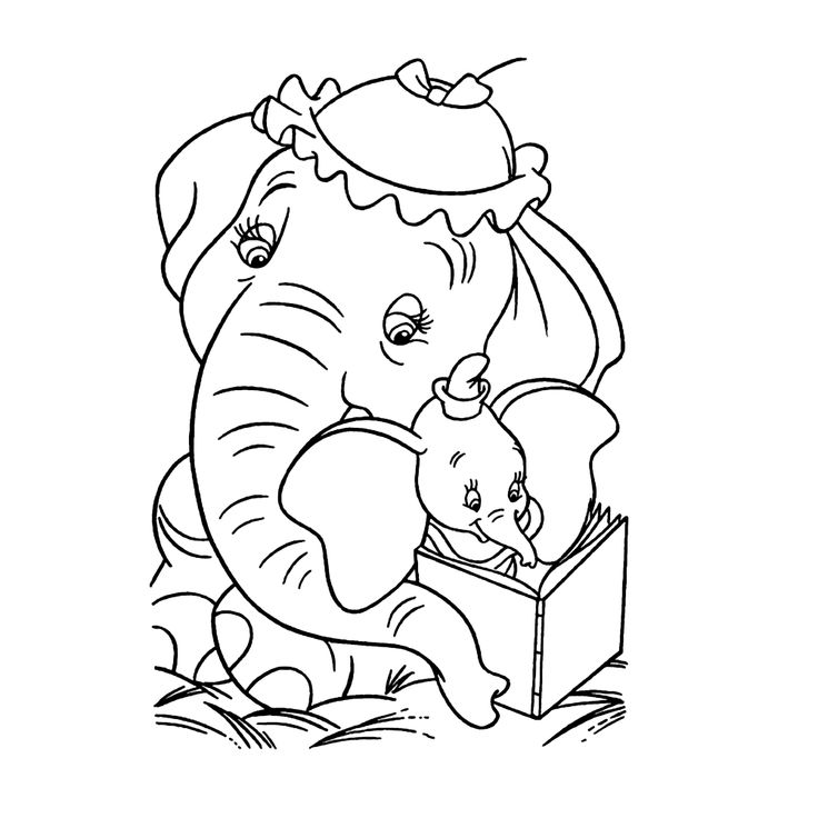 7 best dumbo disegni da colorare images on pinterest Jumbo coloring books for adults