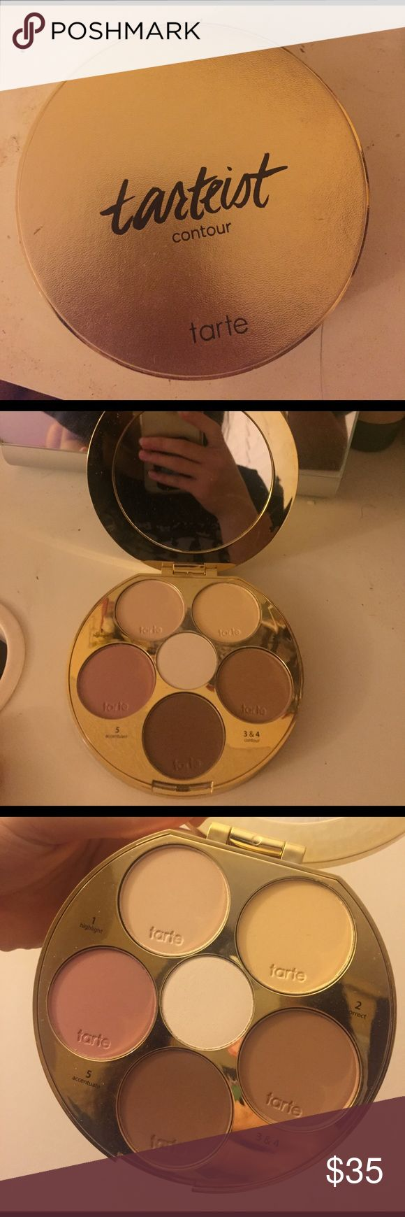 Tarteist Contour Palette I received this as a gift for Christmas. Barely used. The only one I actually used is the bottom brown color and the middle white one. I didn't like it as much as I thought I would. tarte Makeup Bronzer