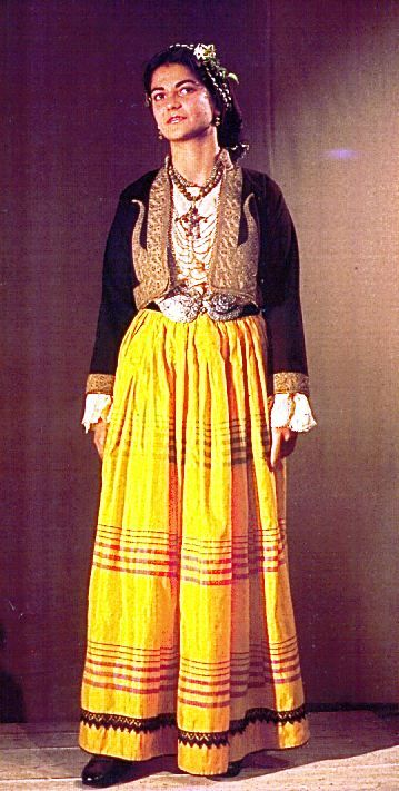 "Costume of Nicosia, ""sa'rka"". Late 19th Century.  Collection of the Cyprus Folk Art Museum."