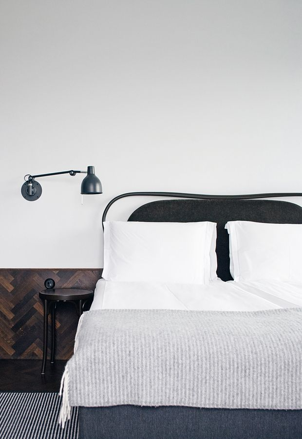 Simple and minimal bedroom styling at Hotel Miss Clara, Stockholm | These Four Walls blog
