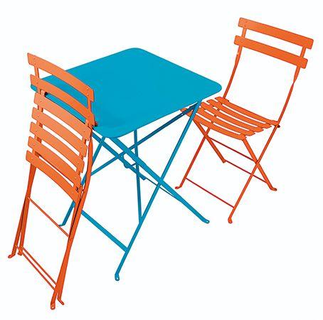 TABLE ET CHAISES BISTROT - LE BHV MARAIS