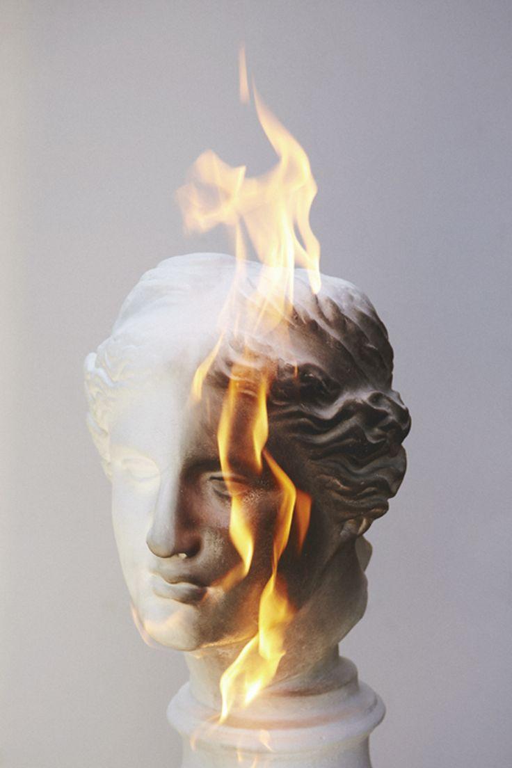 Aphrodite on fire #art