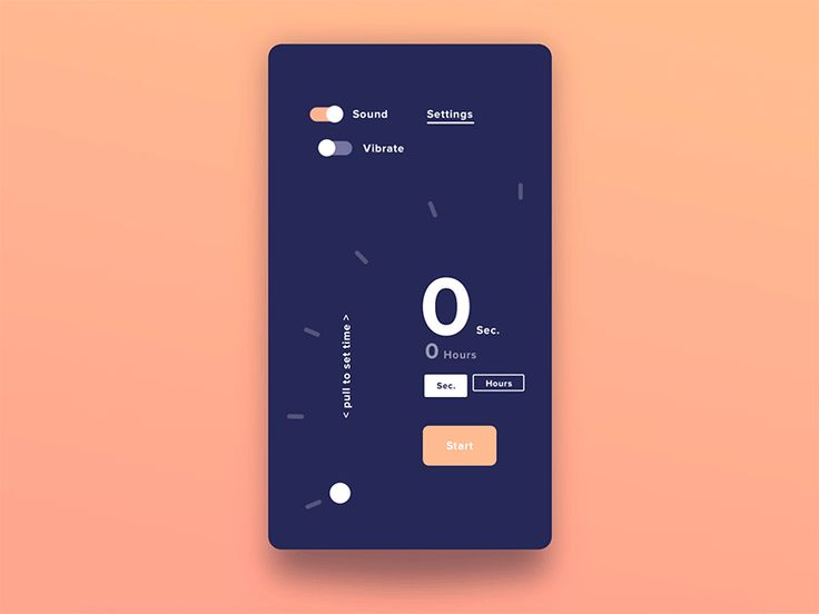 "Simple Timer app prototype Show some ""L""ove if you like it 😚"