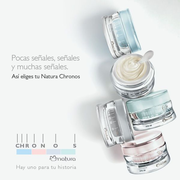 Natura Chronos skin care according to your age group...all natural, ethical and sustainable skincare from Natura, Brazil...