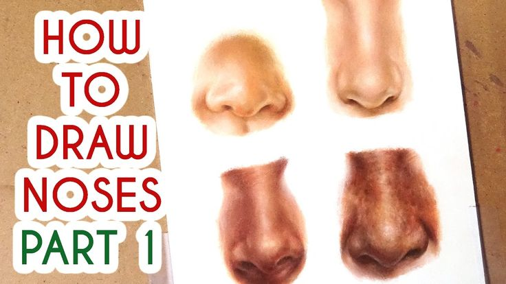 DRAWING NOSES PART 1! Coloured Pencil Drawing Tutorial Episode 8