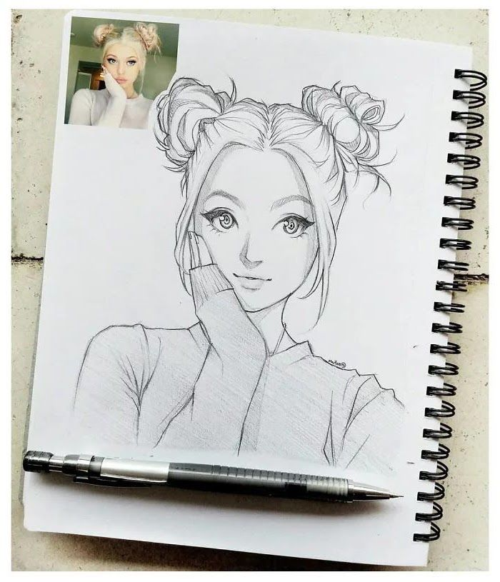 Photo Black And White Pencil Sketch Draw Anime Step By Step Notebook In 2020 Anime Drawings Sketches Art Drawings Sketches Simple Artist Sketches
