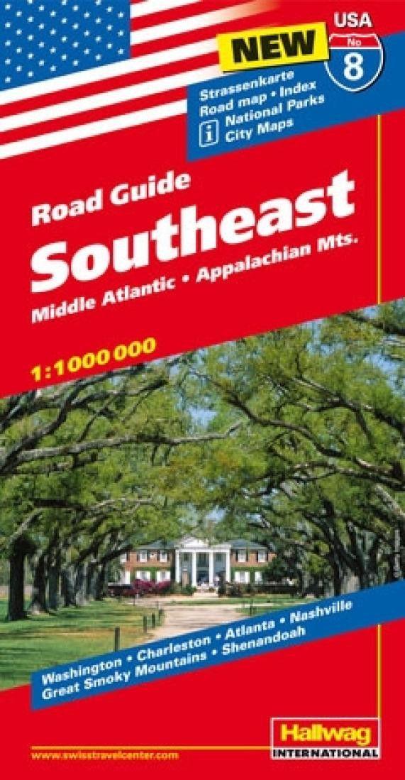 USA 8: Southeast, Mid-Atlantic and Appalachian Mountains by Hallwag