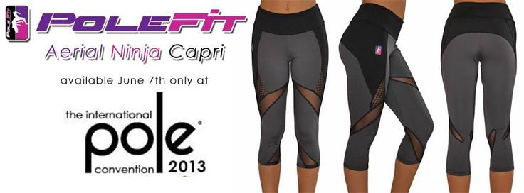 Aerial Ninja Capri's  releasing at Pole Convention next week !!  Can't make it to PoleCon ?  Ask a friend to pick you up a pair =^.^=