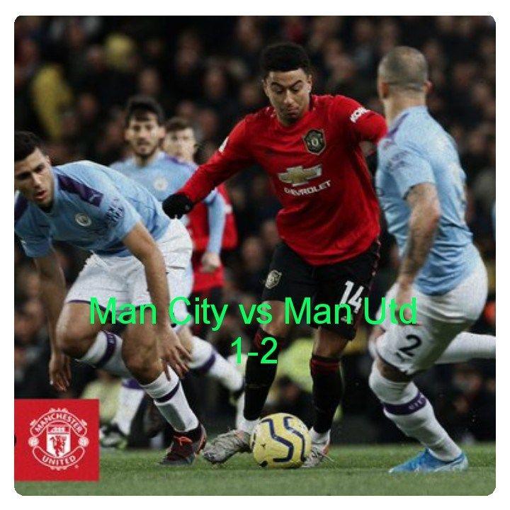 Manchester City Vs Manchester United 1 2 Highlights Download Manchester United Manchester City English Premier League