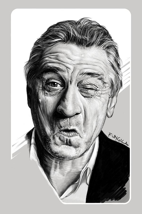 Diego Schirinzi - ROBERT DE NIRO - portraits illustration