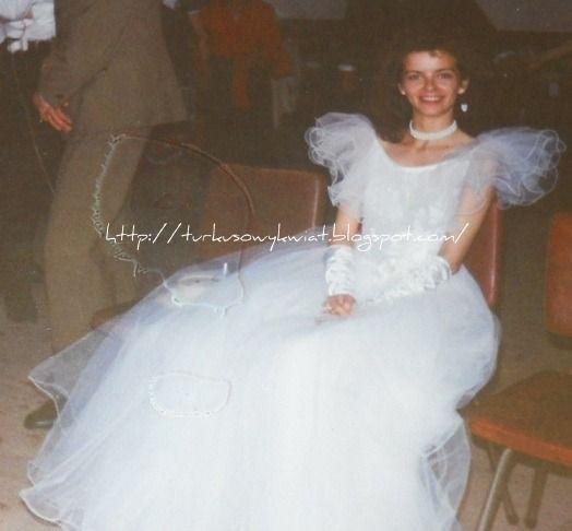 Zapiski roztrzepane .......: Suknia ślubna 1994