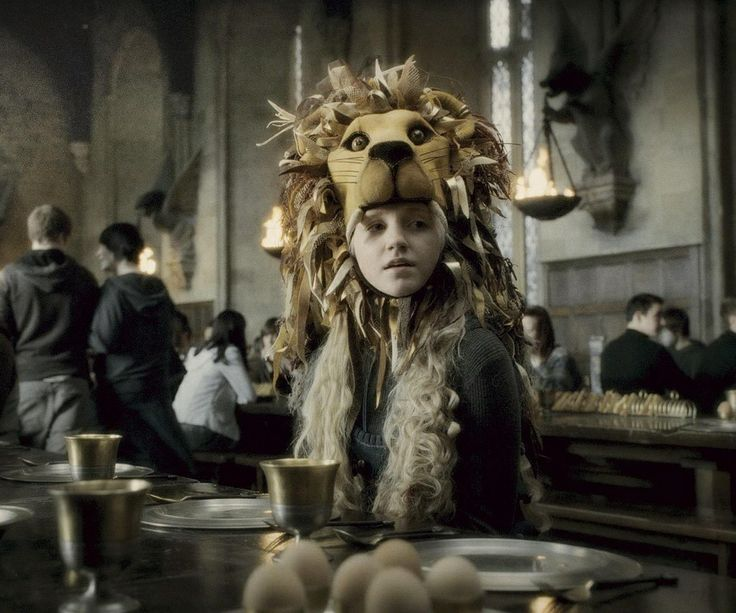Everyone has their luna moments like the you wear a lion hat