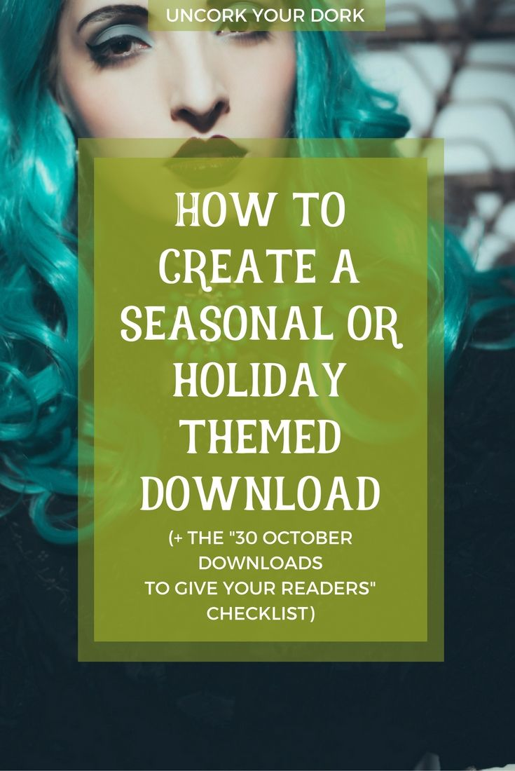 Ready for the holidays? Ready to increase your sign ups, readership and sales? Click to grab the download and start creating your fall themed checklists and printables! via @girlymcnerdy