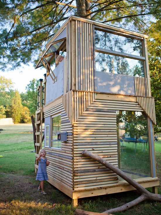 98 Best Cubby Houses Images On Pinterest Treehouse For