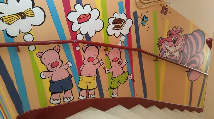 Art mural dans les écoles primaires. Martha Barrachina. #artmural #ecole #peintureenfant #artemural #muralart #escuela #school